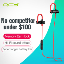 QCY Limited edition QY11 ear hook sport earphones Bluetooth 4.1 wireless headset  HIFI stereo music headphones