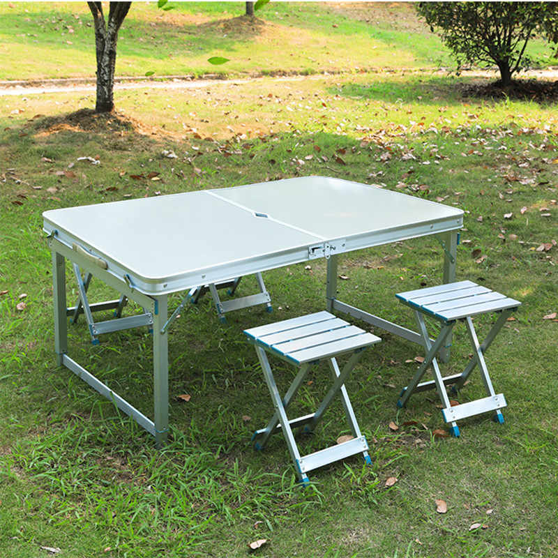 Incredible Outdoor Folding Table Garden Aluminum Alloy Table Chair Set Download Free Architecture Designs Scobabritishbridgeorg
