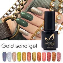 MONASI New Arrival 5ml UV LED Gel Cheese Gel Soak Off Gold Sand Gel Manicure Gel Nail kit For Nail Gel Varnishes 24 Color Pick 1(China)