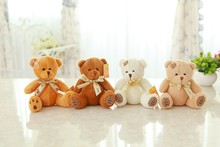 Cute 20cm 3 color Teddy Bear stuffed Soft doll Toys for kids christmas gifts(China)