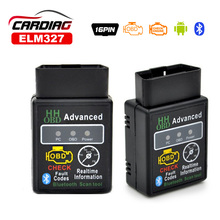 2017 Advanced Auto Car ELM327 HH Bluetooth OBD 2 OBD II Diagnostic Scan Tool elm 327 bluetooth Scanner free shipping