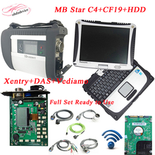 2017 diagnosis MB Star C4&CF19&HDD multiplexer with WIFI mb star diagnosis tool with full cables SD connect C4 compact4 DHL Free