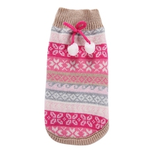 Pet Clothes Fashion Keep Warm Dog Clothing Small Dog Knit Sweater Christmas Costume For Puppy Chihuahua Rose Snowflake XXS-XXL(China)