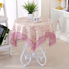 80*80cmDamask Fabric Tablecloth Table Cover Cloth Refrigerator Towel Round Square Rectangle Tablecloths Multi-purpose Home Decor