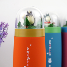 Anime Totoro Stainless Steel Cup Micro Landscape Forest 3D Cartoon My Neighbor Totoro Frosted Glass Mug Toys For Gift(China)