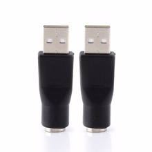 2pcs/Packs USB 2.0 A Male To PS/2 Female Adapters Converter Connector For PC Computer Laptop Keyboard Mouse