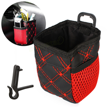 Universal Red Grid Net Car Outlet Storage Bag Phone Holder Pocket Organizer Car Styling Accessories EA10711
