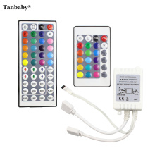 Tanbaby RGB LED Controller 24 / 44 Key Dual Output Port Connectors DC12V 2 Ports Dimmer for 3528 5050 RGB led strip light