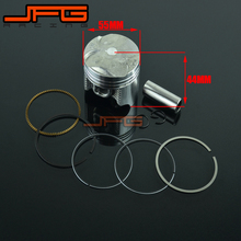Motorcycle Moped & Scooter Diameter 55mm Piston Accessory Piston Ring Set Kit Assy For HONDA CB400 CB 400 Free Shipping