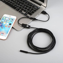 1M 7MM USB Endoscope Waterproof Android Endoscope Inspection Borescope Tube Snake Video Mini Cameras Camera