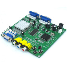 Arcade Game CGA/YUV/EGA/RGB Signal to VGA HD Video Converter Board (Dual Output)(China)