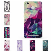 for Redmi 3x Phone Case Cover for Xiaomi Redmi 3 S 3s 3 X Soft TPU Silicon Flower Mobile Phone Bags For Redmi 3s 3 Pro Bags(China)