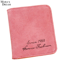 Mara's Dream 2017 Leather Wallets Womens Hasp Letters Pattern Wallet Card Holder Cute Small Change Purses Ladies Linda bolsita