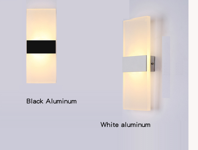 Modern Led Wall Lamps Acrylic Bed Room rectangular Wall light Living Sitting Room Foyer Bathroom LED Wall Mounted Sconce AC220V