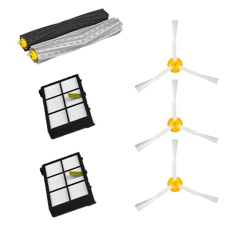 High Quality 1 set Tangle-Free Debris Extractor Brush +2 Hepa filter +3 side brush for iRobot Roomba 800 900 Series 870 880 980<br><br>Aliexpress