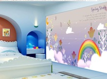3d wallpaper for room Fairy tale fantasy rainbow moon night sky children 's house wall custom 3d wallpaper(China)