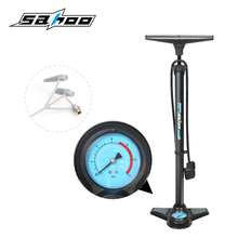 160PSI Bicycle Pump Aluminum Alloy MTB Bike Floor Tire Inflator Air Pump with Pressure Gauge High Pressure Bicycle Accessories