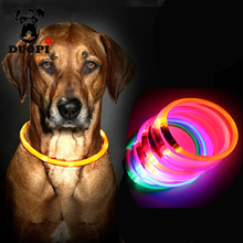 Luminous Glowing Dog Collar Safety Flashing Fluorescent Dog Collars USB Charging Light Rechargeable LED Dog Leads Pet Supplies(China)
