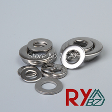 M1.6 M2 M2.5 M3 M4 M5M6M8M10M12M14M16M18M20 DIN125 Flat washer,Stainless Steel A2 falt washer, Form A washer, SUS 304 DIN125(China)