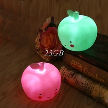 LED Vinyl Apple Sleep Night Light Table Bedroom Baby For Kids Feeding Lamp A21_17