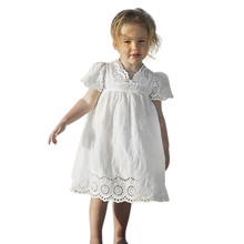 Hot Sale fashion summer Kids Baby Girls Floral Print Lace Princess Hollow Dress Clothes Sundress drop ship Cheap Wholesale Gift