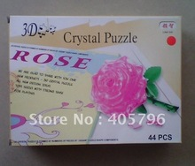 DIY TOY 3D Crystal Puzzle (rose, apple, bear, diamond, etc) Educational toy,Wholesale and Retail