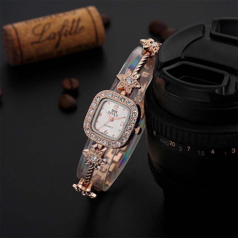SOXY Fashion Rose Gold Watch Women Watches Luxury Rhinestone Stars Bracelet Watch Ladies Watch Lady Hour Gift relogio feminino<br><br>Aliexpress