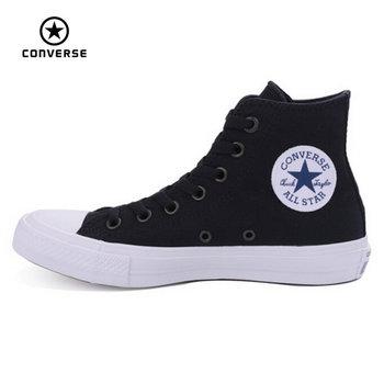 Nouveau Converse Chuck Taylor II All Star chaussures unisexe haute sneakers toile bleu noir couleur Planche À Roulettes Chaussures 150143C
