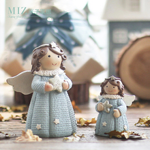 Miz 1 Piece Lovely Resin Craft Figurines Christmas Gifts for Women Angel Resin Dolls Desk Accessory Home Decor