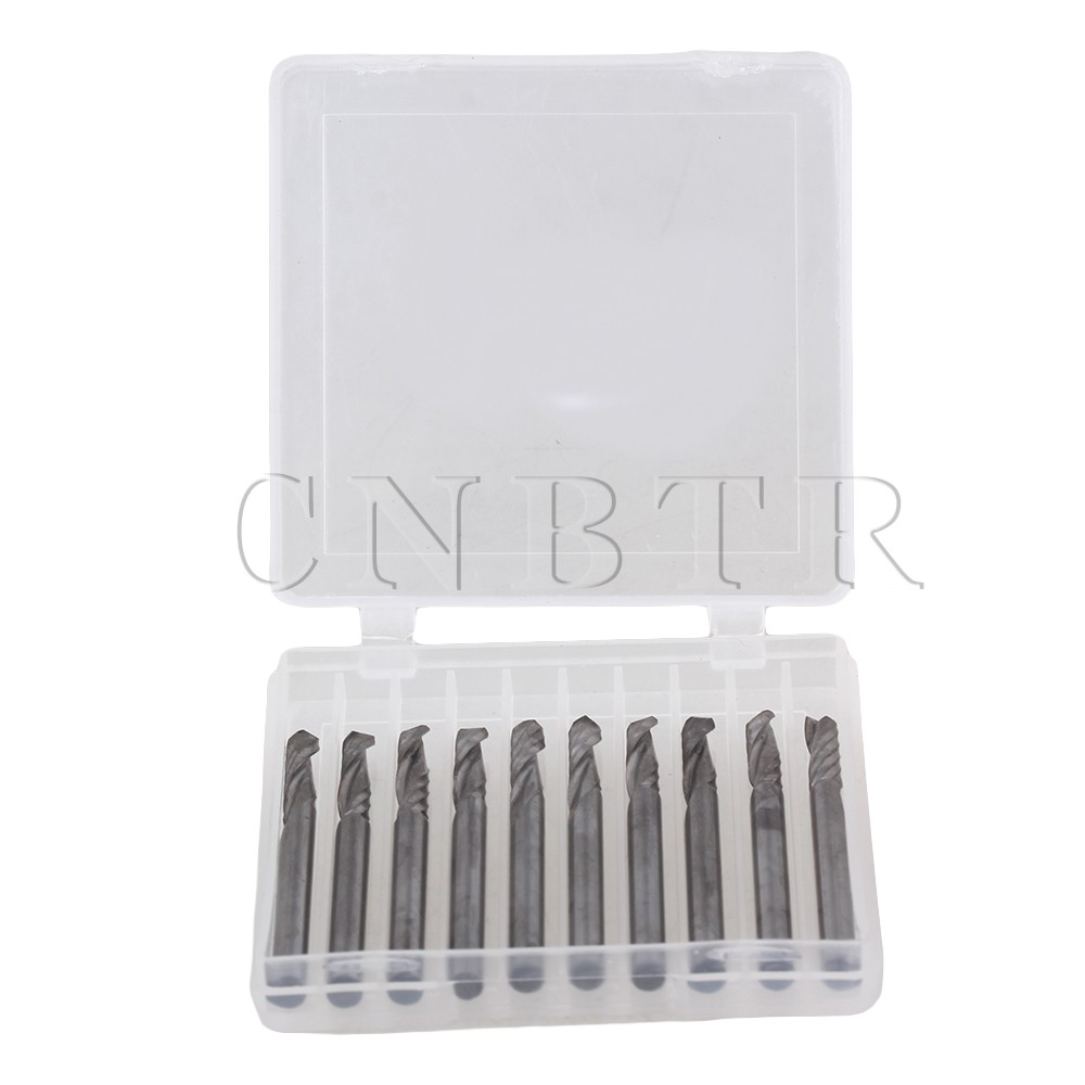 CNBTR New 10PCS 1/8 Single flute carbide Engraving CNC router bits Tools Cutting  <br><br>Aliexpress
