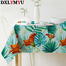 Linen Table Cloth Rural Style Plant Printed Multifunctional Rectangle Table Cover Tablecloth Table Mat Custom Size(China)