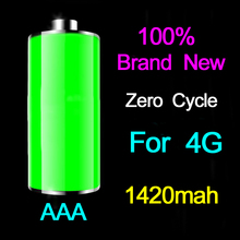 MLLSE 5pcs/lot AAA Quality For iphone 4 Battery Brand New zero cycle Phone Battery for iPhone 4G Bateria 1420mAh Free Shipping