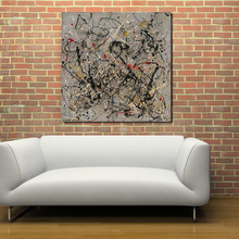 QCART Jackson Pollock Oil Painting Wall Art Paiting Canvas Paints Home Decor Print Painting Modern Wall Decor