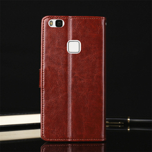 Genuine Leather Cover Case for Huawei P10 lite Case Wallet Card Slot TPU Fundas Coque for Huawei P10 lite Cover Case Flip Luxury(China)