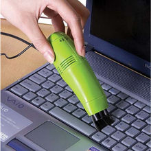 New Fashion Green Mini PC Keyboard Vacuum Cleaner USB 2.0 Laptop Portable Practical Keyboard Cleaning Brushes(China)