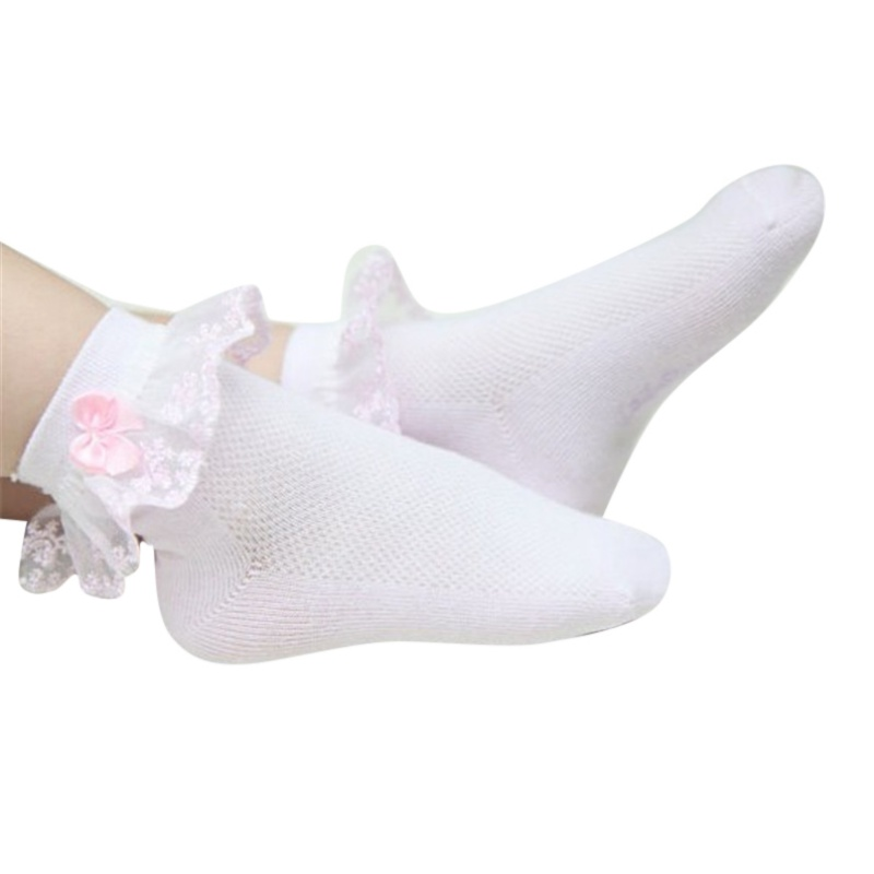 Summer Baby Girls Toddler Cotton Lace Ruffle Princess Mesh Socks Kids Ankle XE