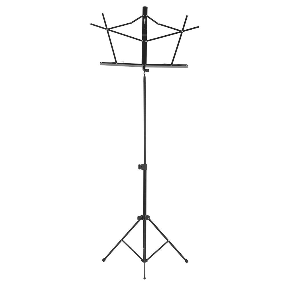 Flanger Folding Music Stand Shelf Metal Height 57-113cm With Carrying Bag Portable Adjustable<br>