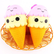 2017 Soft Jumbo ice Cream Cartoon Squishy Slow Rising Squeeze Stress Reliever Toy(China)