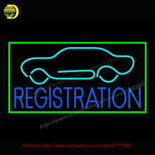 Registration Car Logo Neon Sign Neon Bulb Coors light Neon Decorate Glass Tube Handcrafted Custom Light Sign Flashlight 37x20(China)