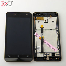 720x1280 LCD Display Glass Panel Touch Screen Digitizer Assembly + frame replacemet For Asus zenfone 5 A500CG A501CG T00J T00F
