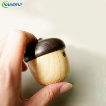 HANGRUI J2 MINI Bluetooth speaker Portable Cute Wooden Nut Unique design Stereo music player Hands free for iphone xiaomi phones