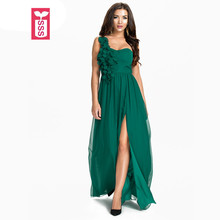 SSS Brand Femme Strapless One-Shoulder High Split Ankle-Length Dresses Womens Bride Formal Bridesmaid Party Maxi Dress 2017(China)