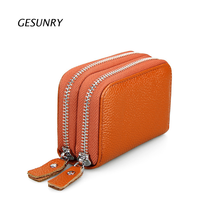 Leather Ladies\Women Purse Wallet with Double Credit Cards Section High Quality