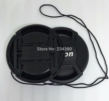 Free shipping + tracking number EMS DHL Camera Lens Cap 49mm 52mm 55mm 58mm 62mm 67mm 72mm 77mm 82mm for nikon D60 D5100 D3100(China)