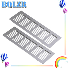 BQLZR 2pcs 250mm Square Aluminum Ventilation Vent Grille for Cupboard Wardrobe
