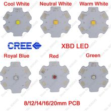 10x 3W Cree Xlamp XBD XB-D High Power LED Emitter Cool Warm Neutral White Red Green Royal Blue Color on 8 12 14 16 20mm PCB