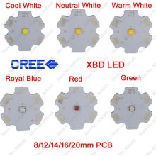 10x 3W Cree Xlamp XBD XB-D High Power LED Emitter Cool Warm Neutral White Red Green Royal Blue Color on 8 12 14 16 20mm PCB(China)
