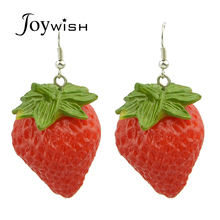 Fashion brincos Design Cute Small Earrings Red Strawberry Drop Earrings Female Niceshow Women Jewelry