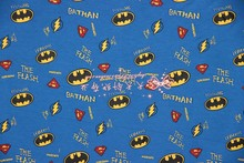 165X100cm The Batman Flash Superman Logo Knitted Cotton Fabric for Baby Clothes Dress Sewing Patchwork DIY-AFCK199