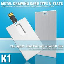 K1 USB Flash Drive USB Card Drive 8GB 32GB Pen Drive Real Capacity Pendrive USB Stick Logo printing(China)